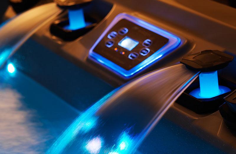Hot Tub Blue Fountain Lights