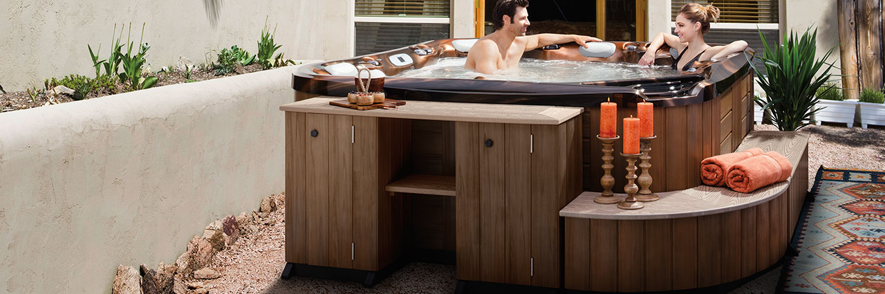 Hot Tub Cabinets, Shelves and Stools