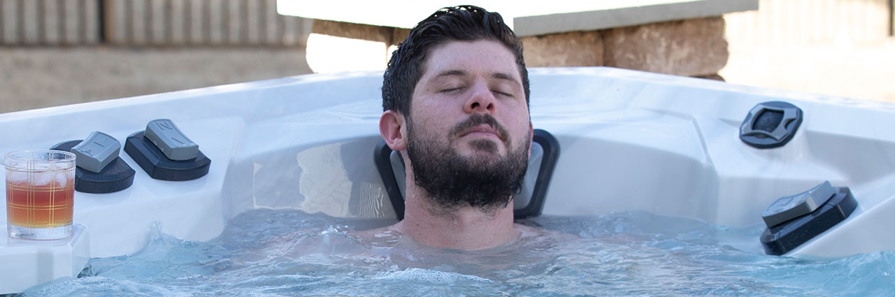 Ryan Truex in his Vector21 Marquis Hot Tub